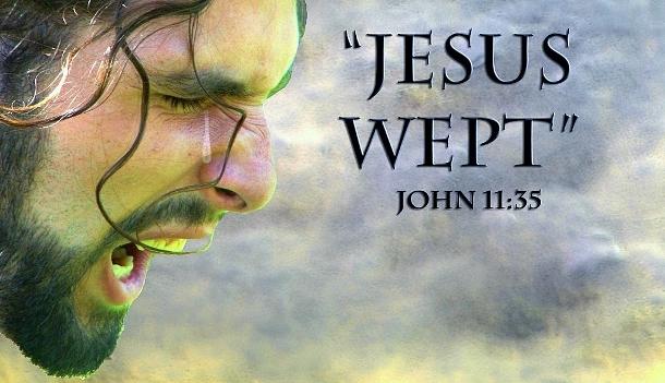 Image result for image jesus wept